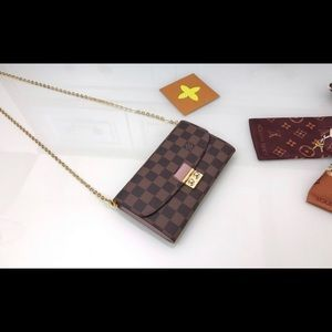 LV cross body with gold chain